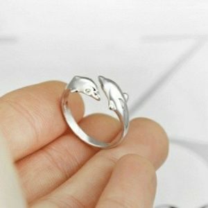 925 Sterling Silver Dolphin Ring